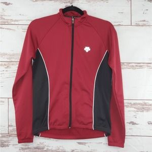 Descente Cycling Jacket Red Full ZIp M